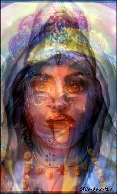 Hathor Digital Art - The Goddesses Within You by Carmen Cordova