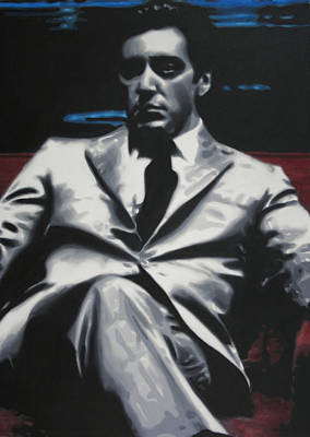 Painting - The Godfather 2013 by Luis Ludzska