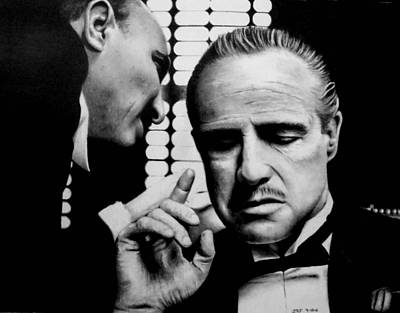 Drawing - The Godfather by Rick Fortson