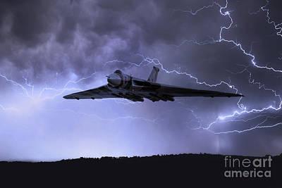 Lightning Digital Art - The Gods Came Calling  by J Biggadike