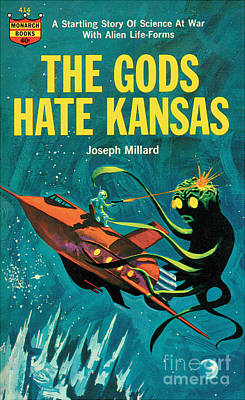 Print featuring the painting The Gods Hate Kansas by Jack Thurston