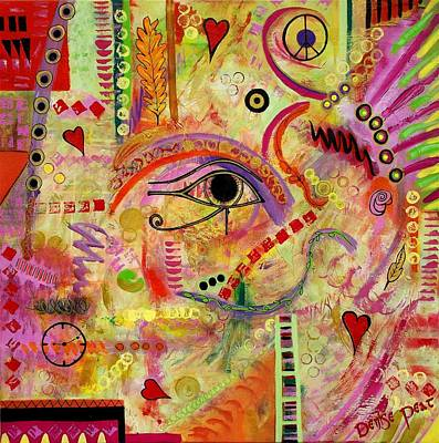 Must Art Painting - The Gods Must Be Crazy by Denise Peat