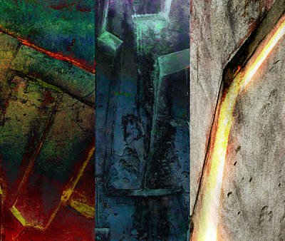 Digital Art - The Gods Triptych 1 by Ken Walker