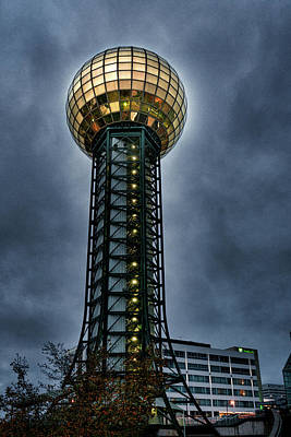 Photograph - The Gold Ball At The Top by Sharon Popek