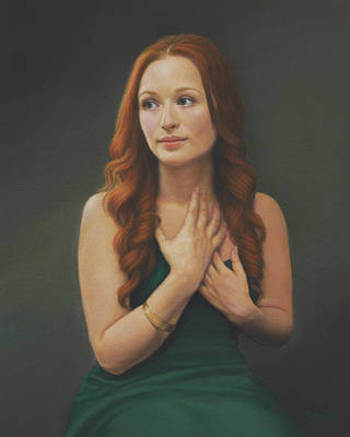 Painting - The Gold Bangle by Rita Romero