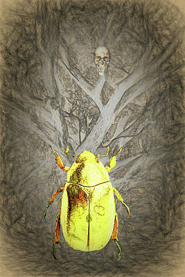 Digital Art - The Gold Bug by John Haldane