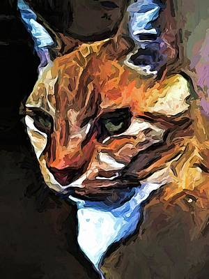 The Gold Cat With The Stage Presence Art Print