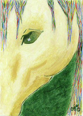 Painting - The Gold Horse by Stephanie Agliano