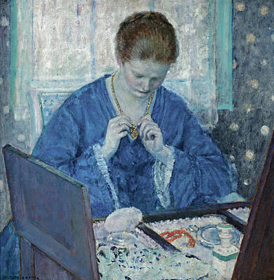 Painting - The Gold Locket by Frederick Carl Frieseke