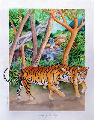 The Gold Of The Tigers Art Print by Robert Lacy
