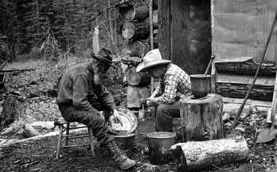 Prospecting Photograph - The Gold Rush, Miners With Gold by Everett