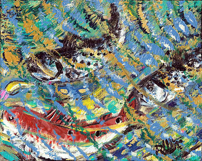 Speckled Trout Painting - The Gold Spoon by Robert Wolverton Jr