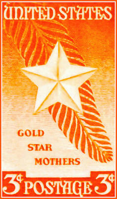 Gold Star Mother Painting - The Gold Star Mothers Stamp by Lanjee Chee