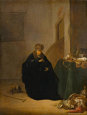 Painting - The Gold Weigher by Willem de Poorter