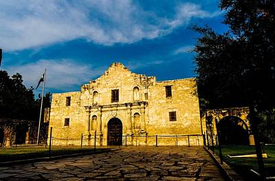 Photograph - The Golden Alamo by Marisela Mungia