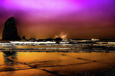Digital Art - The Golden Beach by David Patterson
