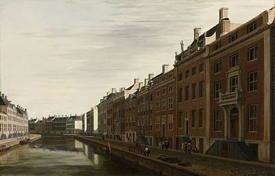 The Golden Bend In The Herengracht, Amsterdam, Seen From The West, 1672 Art Print