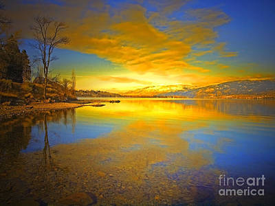 Penticton Photograph - The Golden Clouds Of Winter by Tara Turner