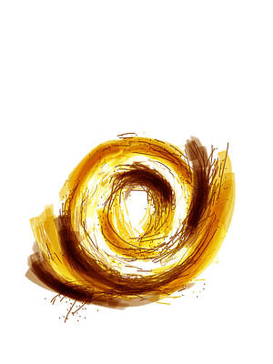 Donuts Drawing - The Golden Donut  by Ingrid Van Amsterdam