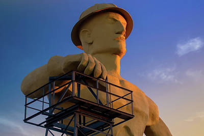 Photograph - The Golden Driller - Tulsa Oklahoma Icon by Gregory Ballos