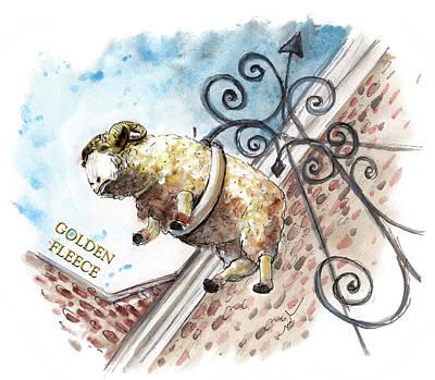 The Golden Fleece In Thirsk Art Print by Miki De Goodaboom