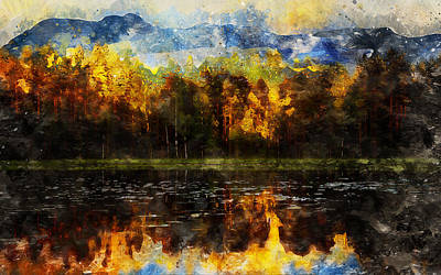 Painting - The Golden Forest by Andrea Mazzocchetti