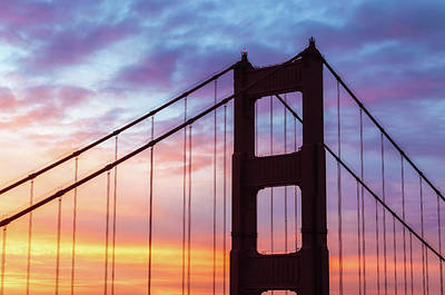 Photograph - The Golden Gate At Sunrise by Jonathan Nguyen