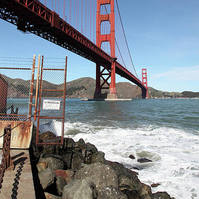 Photograph - The Golden Gate Bridge At Fort Point 5d21473 Square by San Francisco Art and Photography