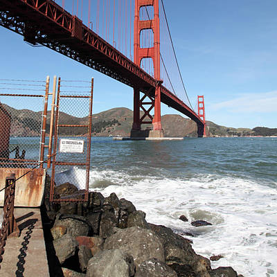 Photograph - The Golden Gate Bridge At Fort Point 5d21473 Square by Wingsdomain Art and Photography