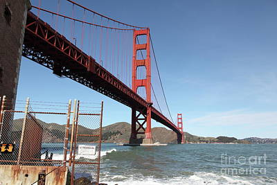 Photograph - The Golden Gate Bridge At Fort Point 5d21475 by San Francisco Art and Photography