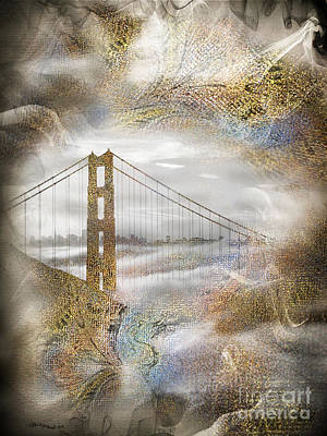 Christine Mixed Media - The Golden Gate Bridge by Christine Mayfield