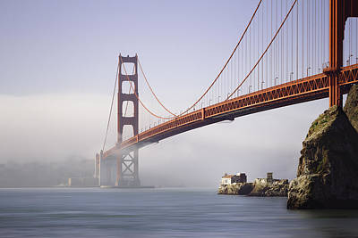 Bay Bridge Digital Art - The Golden Gate Bridge by Eduard Moldoveanu