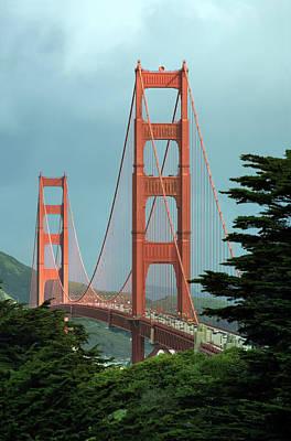Photograph - The Golden Gate Bridge In A Sunbeam by Daniel Furon