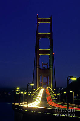 The Golden Gate Bridge Twilight Art Print