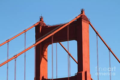 Wing Tong Photograph - The Golden Gate Bridge Up Close . San Francisco California . 7d14537 by Wingsdomain Art and Photography