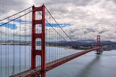 Photograph - The Golden Gate Bridge - View 1 by Susan Rissi Tregoning