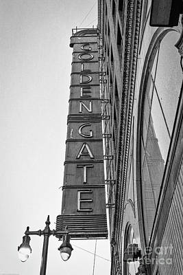 Photograph - The Golden Gate Theater by Mitch Shindelbower