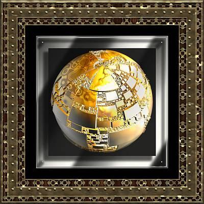 Digital Art - The Golden Globe by Mario Carini