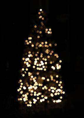 Warm Photograph - The Golden Glow Of A Christmas Tree by Rona Black