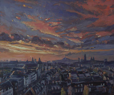 Painting - The Golden Hour Maastricht by Nop Briex