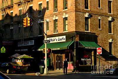 Photograph - The Golden Hour - New York City Street Scene by Miriam Danar