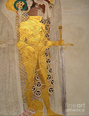 Tate Gallery Painting - The Golden Knight Beethoven Frieze by Celestial Images