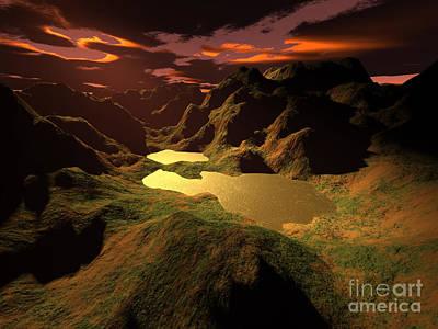 The Golden Lake Art Print by Gaspar Avila