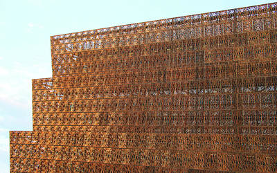 Photograph - The Golden Lattice Of The National Museum Of African American History And Culture by Cora Wandel