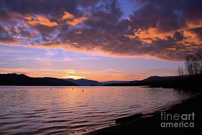 Photograph - The Golden Linings by Victor K