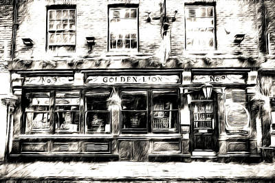 Mixed Media - The Golden Lion Pub York Art by David Pyatt