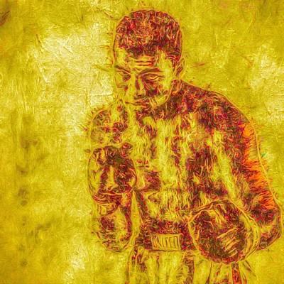 Famous Photograph - The Golden Man. #muhammedali #ali by David Haskett