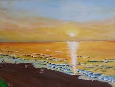 The Golden Ocean Art Print