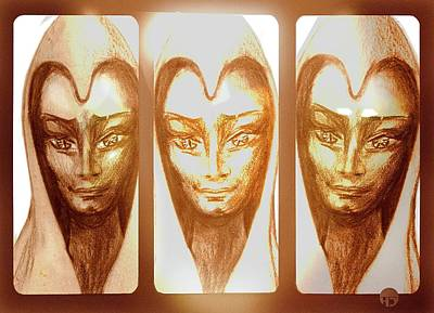 Drawing - The Golden Ones by Hartmut Jager