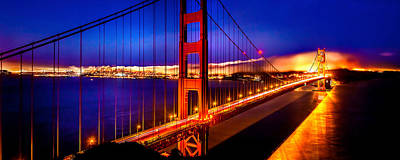 Golden Gate Photograph - The Golden Path by Az Jackson